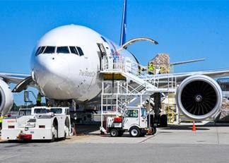 The massive Boening 777 cargo plane loaded with PPE